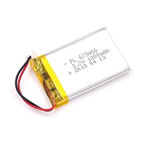 DC 3.7V 1200mAh 673450 Lipo Battery Rechargeable 2P PH 2.0mm Pitch Lithium Polymer ion Battery Pack with JST Connector