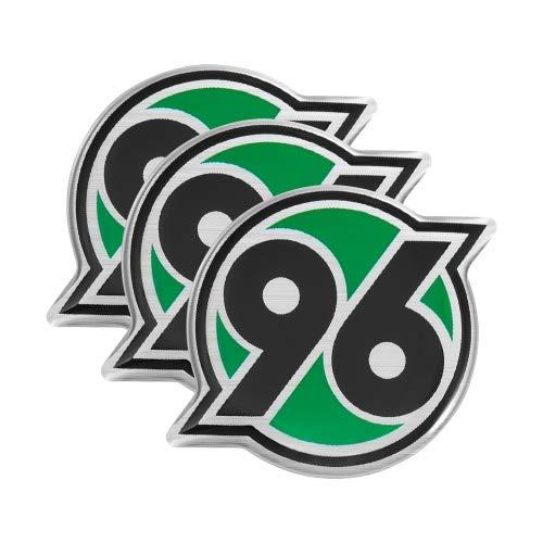 Hannover 96 Autoaufkleber 3D Logo (3er-Set) Aufkleber, Sticker H96 - Plus Lesezeichen I Love Hannover