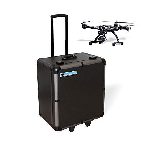 Preisvergleich Produktbild DROHNENSTORE24.DE ...DER DROHNEN-GURU DS24 Koffer für Yuneec Q500 4K / Typhoon H mit Trolley Griff Rollen Black Edition