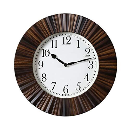 JIAQUAN-SHOP Reloj de Pared Creativa Reloj de Pared Decorativo Mute imitación Madera Reloj de Pared Redondo 40 cm Reloj de decoración del hogar