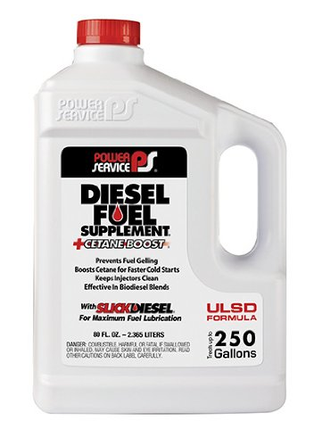 Power Service 1080-06-6PK +Cetane Boost Diesel Fuel Supplement Anti-Freezer - 80 oz., (Pack of 6)