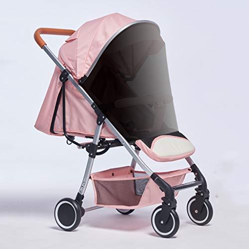 Xiaoli Sillas de Paseo Cochecito De Bebé con Portavasos Canasta De Almacenamiento Mosquitera Sombrilla, Carro De Bebé Reclinable Ligero Y Plegable Sentado Cochecito de bebé (Color : G)
