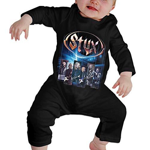 Styx Newborn Girl Boy's Kids Body para bebé de Manga Larga para niños pequeños(18M,Negro)