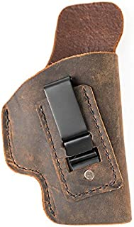 Muddy River Tactical 1911 Style Handguns with 4 inch Barrels (Non-Rail Models) - Soft Sided Leather Inside The Waistband (IWB) Concealed Carry Holster