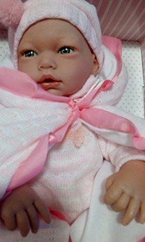 Muñecas Guca - Muñeca Alba con Traje y mantita, 38 cm, Color Rosa (570)