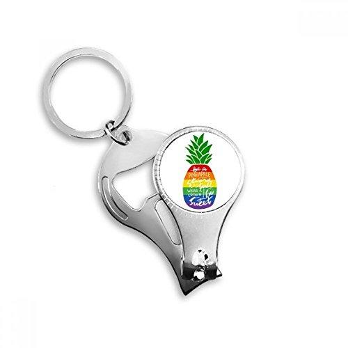 DIYthinker Piña del arco iris de la bandera LGBT de la cita...