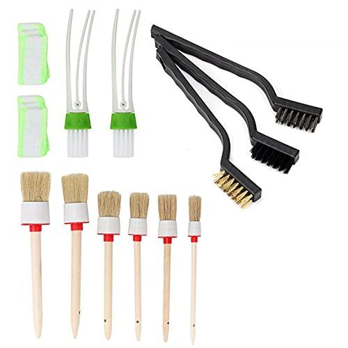 WSFANG Kit de Cepillo de Coche Universal Boar Hair Auto Interior Rueda de Rueda Limpieza Herramienta Pollo de Polvo Accesorios para automóviles