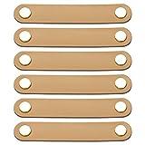 WIFUN 6 Stück Möbelgriffe Leder, Ledergriff Möbel 143*22mm Modernen Stil Türgriffe Ledergriff mit Schrauben Zubehör für Schublade Schranktür Wohnkultur