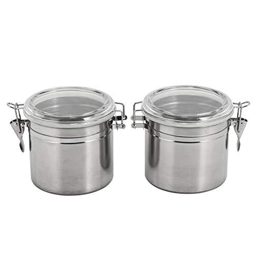 Kuinayouyi Juego de recipientes herméticos para cocina de acero – Hermoso para encimera de cocina, pequeño 32 onzas, recipiente de almacenamiento de alimentos, botes de té, café y azúcar