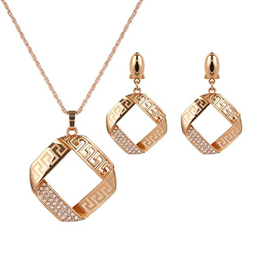 MSYOU Simple Earring Personality Geometric Pendant Earrings Necklace Jewelry Accessories for Women Clothes Decor
