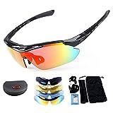 MACHSWON - Gafas de sol deportivas polarizadas para hombre y mujer, X7 Army con 4 lentes intercambiables para la conducción, motociclismo, caza, carreras, esquí, ()