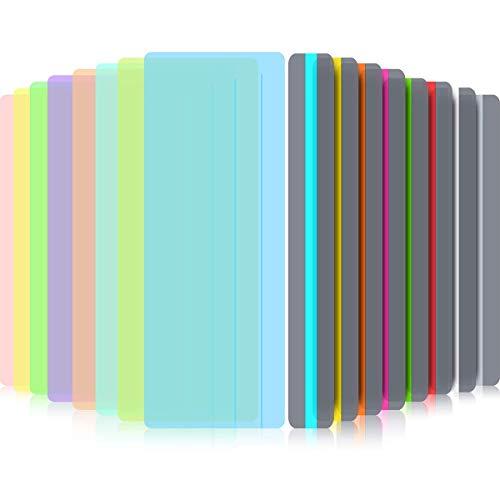 Xiangmall 16 Piezas Tiras de Lectura Guiadas Superposición de Color Reglas de Lectura Resaltar Marcador para Dislexia Niños Maestros Suministros Escolares (Vistoso)