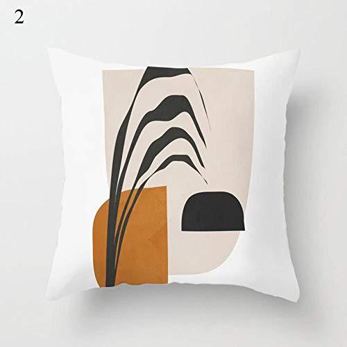 YAL Housse de coussin décorative en polyester 45 x 45 cm