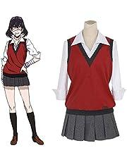 LY Kakegurui Ikishima Midari Cosplay Costume Japanese School Uniform Vest Dress Girls Women Halloween Cosplay Costume