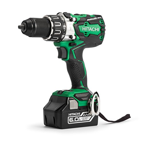 Hitachi DV18DBXL/JX 18 V Cordless Brushless Combi Drill with 2 x 6 A Battery - Green (2-Piece)