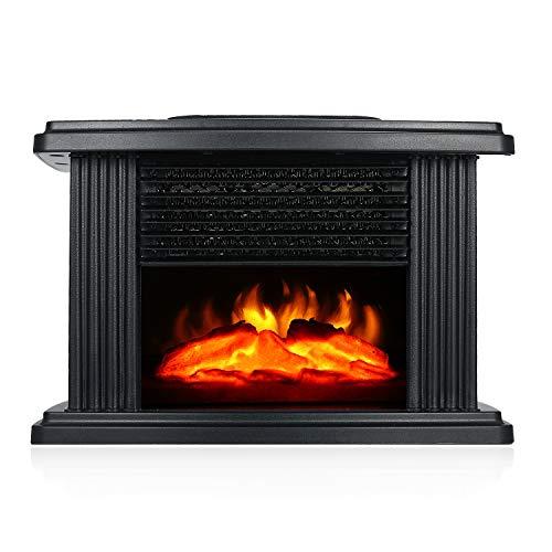 CCFCF Elektro Kamin Elektrischer mit Heizung,LED Kaminfeuer Effekt 1000W Flammeneffekt Heizer Ofen