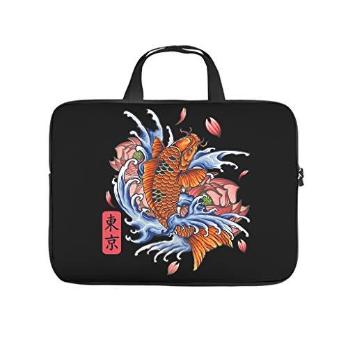 Funda para ordenador portátil de 13 a 15,6', diseño de Japón Koi Fish Tokyo Los Angeles