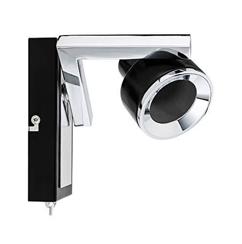 Paulmann 66670 Spotlight Turn max 1x10W GU10 Schwarz/Chrom 230V Metall/Kusnststoff 666.70 Deckenleuchte Lampe LED Deckenlampe Deckenstrahler