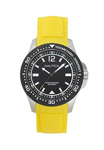 Nautica Herren Datum klassisch Quarz Uhr mit Silikon Armband NAPMAU005