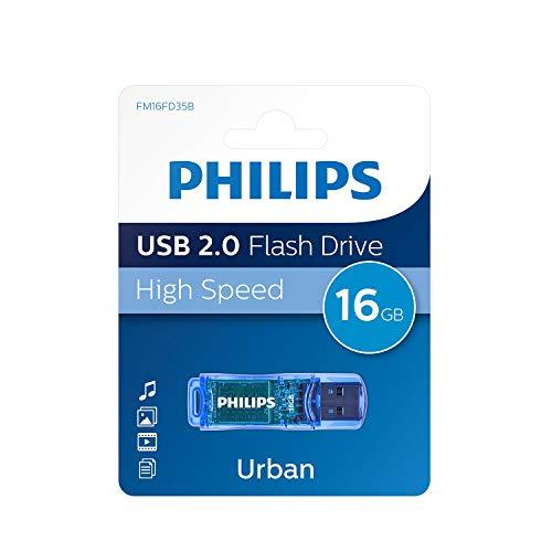 Philips Unidad Flash USB FM16FD35B/00 - Memoria USB (16 GB, USB Tipo...
