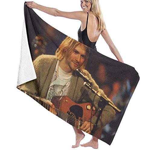 Kurt Cobain Beach Travel Towel Pool Blanket Quick Dry Swim Carpet Oversized 80x130 cm