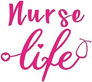 ملصق SixtyTwo24 Nurse Life مقاس 5 بوصات {وردي} - ممرضة مسجلة، RN, R.N، LPN، ممارس الممرضات، CNA، ملصق العناية الصحية، حياة...