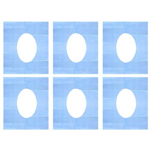 Exceart 20 Stks Wegwerp Wc-Bril Covers Potje Zitkussen Pads Bescherming Voor Home Hotel Outdoor Reizen (Blauw)