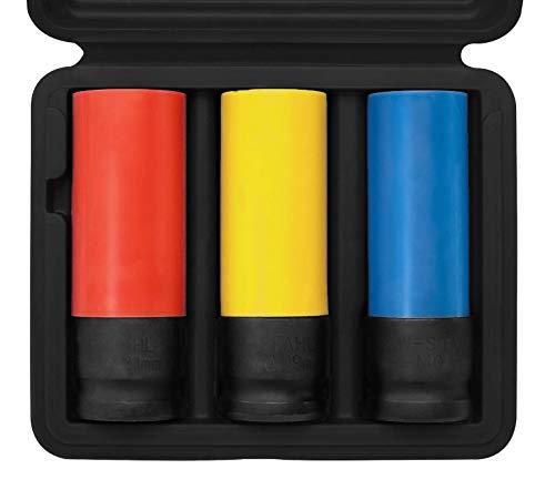 SW-Stahl 07870L Schlagschrauber Nüsse Set I 3-teilig I 1/2 Zoll I 17, 19, 21 mm