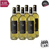 Monbazillac Audrey Blanc 2016 - Domaine du Haut-Montlong - Vin Doux AOC Blanc de Bordeaux - Cépages Sémillon, Muscadelle - Lot de 6x75cl