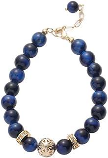 Blue Tiger Eye Stone Bracelet Personality Female Pearl Transfer Bracelet, Birthday Gift for Girlfriend and Girlfriend