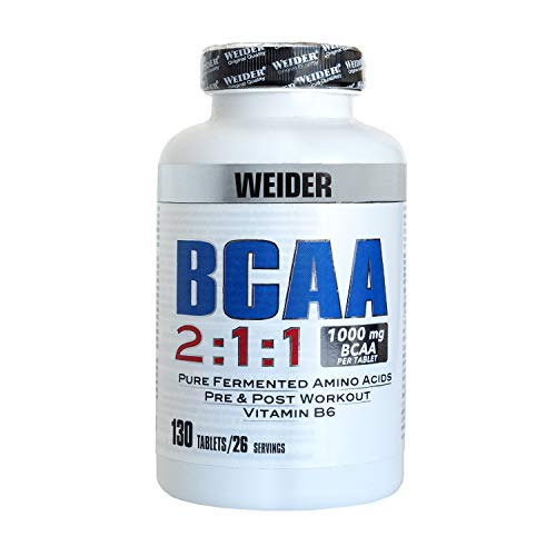 Weider BCAA Pure Synthetic Amino Acids 130 Tablets