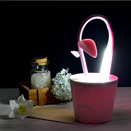 Violet G/én/érique LED Vue Protection Lampe de Table Forme Pot /à Fleur avec Organisateur Porte-stylo pr Travail Lecture