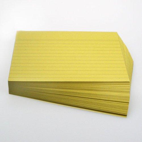 Office Line Karteikarten, gelb, 190 g, DIN A5, 100 Stück, liniert, Art.Nr.: 770294