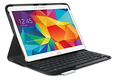 Logitech Type S - Funda con Teclado para Samsung Galaxy Tab S, Negro - QWERTY Español