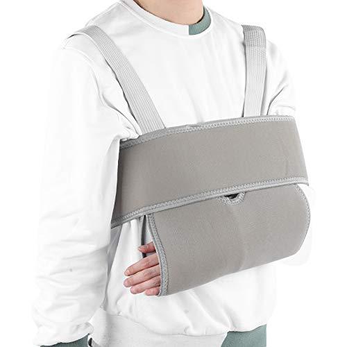 Eslinga para brazo, inmovilizador de hombro transpirable, correa de apoyo médico para fracturas rotas, muñeca de codo de brazo ajustable, rotador de hombro