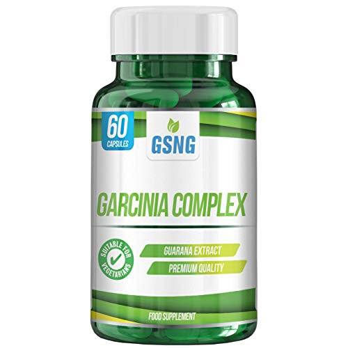 Garcinia Complex Supplement – Guarana Seed Extract Lean Weight Loss Diet Pills - Metabolism Support, Appetite Suppressant and Fat Burner - 60 Vegetarian Capsules – UK Premium Manufacture – GSNG