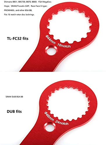 Bicycle Multifunctional BB Wrench, Bicycle Bottom Bracket Wrench Spanner, Mountain Bike Road Bicycle Install Remove Crank Repair Tool Bottom Bracket Removal Tool for TL-FC32, DUB, TL-FC25, TL-FC24