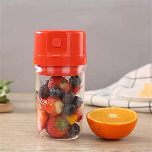 Jugo de fruta de carga USB portátil Copa Exprimir Pequeño Torbellino multifuncional hogar fruta mezclador, ligero y portátil, Huangchuxin (Color : Red)
