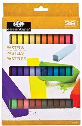 Royal & Langnickel CPH-A36 Essentials Lot de 36 Crayons Pastel carrés Souples Couleurs Assorties