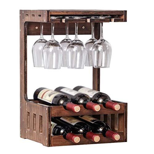 WZHZJ De Pared Estante del Vino, Vino de Pared Estante de la Pared del Vino del hogar del Estante del Estante del Estante del Restaurante Copa de Vino