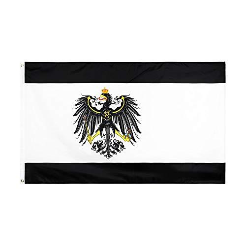 SSJIA Pride Flag Halloween 3x5 fts Deutschland Preußisch Deutsch Banner Preußen Flagge, 90 x 150cm