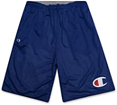 Big and Tall Mens Gym Shorts - Athletic Shorts for Men - Mesh Reversible Shorts Royal 3X