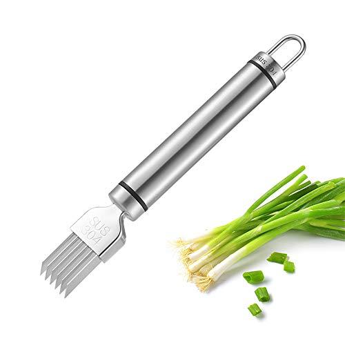 Scallion Slicer Zwiebel Seidenschneider Slice Besteck Gemüseschneider Edelstahl Schneidwerkzeug Gehackte Frühlingszwiebel Chopper für die Küche
