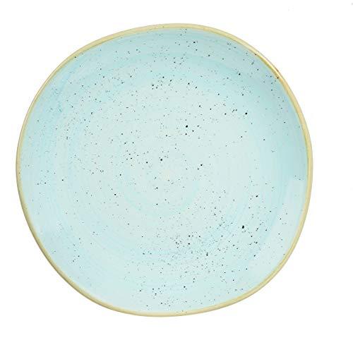 Churchill Stonecast Peppercorn Grey - handgefertig Organic Round Plate - 26,4cm (Duck Egg Blue)