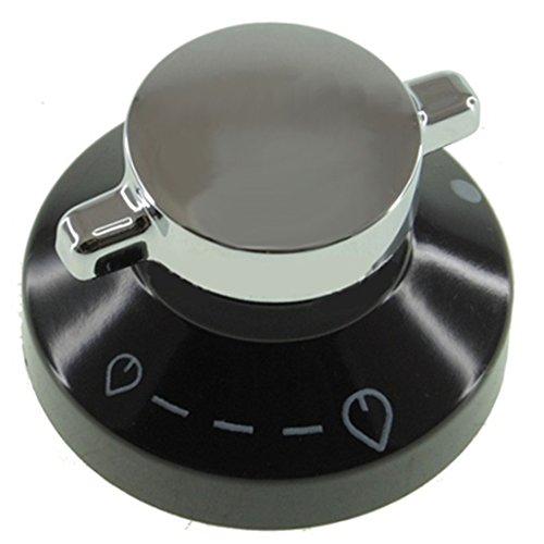 Nieuwe Wereld 444440036 600SIDLM Echte Temperatuur Controle Knop voor Oven Kookplaat Kookplaat (Zwart/Zilver)