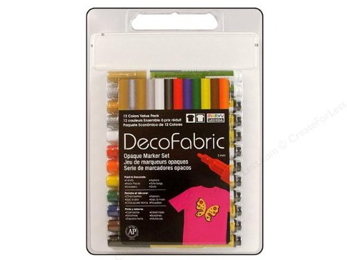 Uchida DecoFabric Markers (3mm) 12 per Package #222-12A