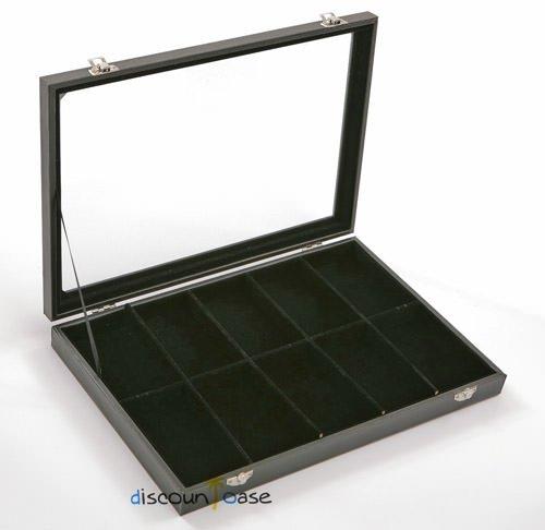 Sinoba Carga Joyero Vitrina de Joyas con Tapa de Cristal (10Compartimentos)