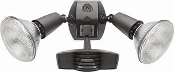 RAB Lighting STL110R Stealth 110 Sensor with Twin Die Cast R90 PAR-38 Floods Aluminum 110 Degrees View Detection 1000W Power 120V Bronze Color