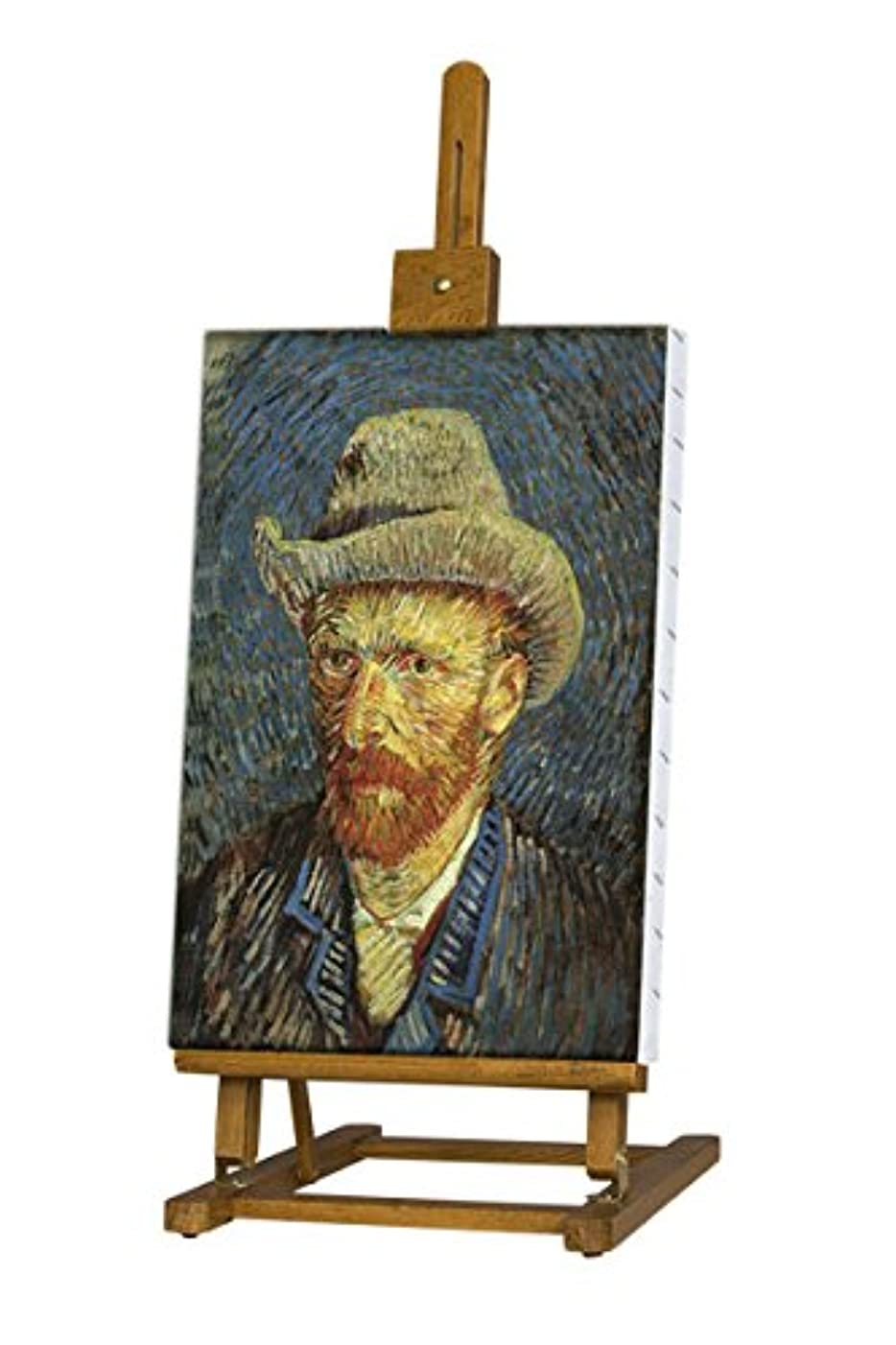 "Creative Mark Tabletop Artist Easel Van Gogh 29-38"" Tall Folding Display Easel, H-Frame Wood Studio Art Easel Perfect for Student Artists, Small Studios & Art Display - Oiled Beechwood Finish"