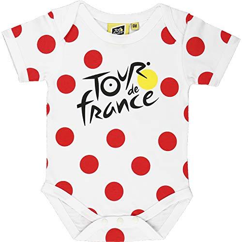 Tour de France Body – Baby Grimpeur de ciclismo – Colección oficial, Bebé-Niñas, blanco, 12 meses
